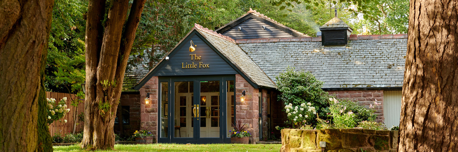 Front entrance to the little fox from the garden